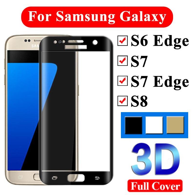 3D Vidro Temperado No Para Samsung Galaxy Protetor de Tela Borda S7 Samsyng S6 Armadura S7edge Screenprotector S 7 6 7 Tremp s Ed