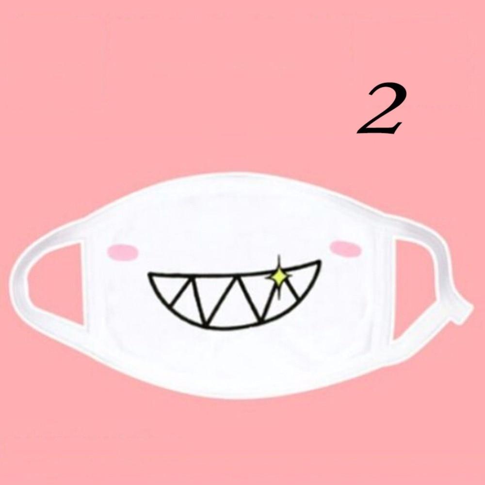 Image 2 - 1 шт. кавайная Милая Унисекс Женская Мужская Аниме смайликовая  маска для рта Kaomoji против пыли маска для лица Защитная маска для  ртаМаски