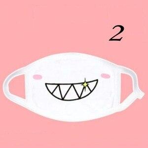 Image 2 - 1PCS Kawaii Cute Unisex Women Men Anime Emotiction Mouth muffle Kaomoji Anti Dust Face Mask Safety Mouth Mask
