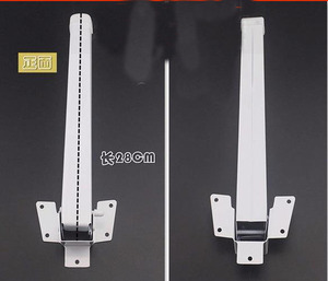 Image 2 - 4 ピース/ロット L: 28 センチメートルベッド折りたたみテーブル足ノートブックコンピュータ支援三脚テーブル脚平方フィート