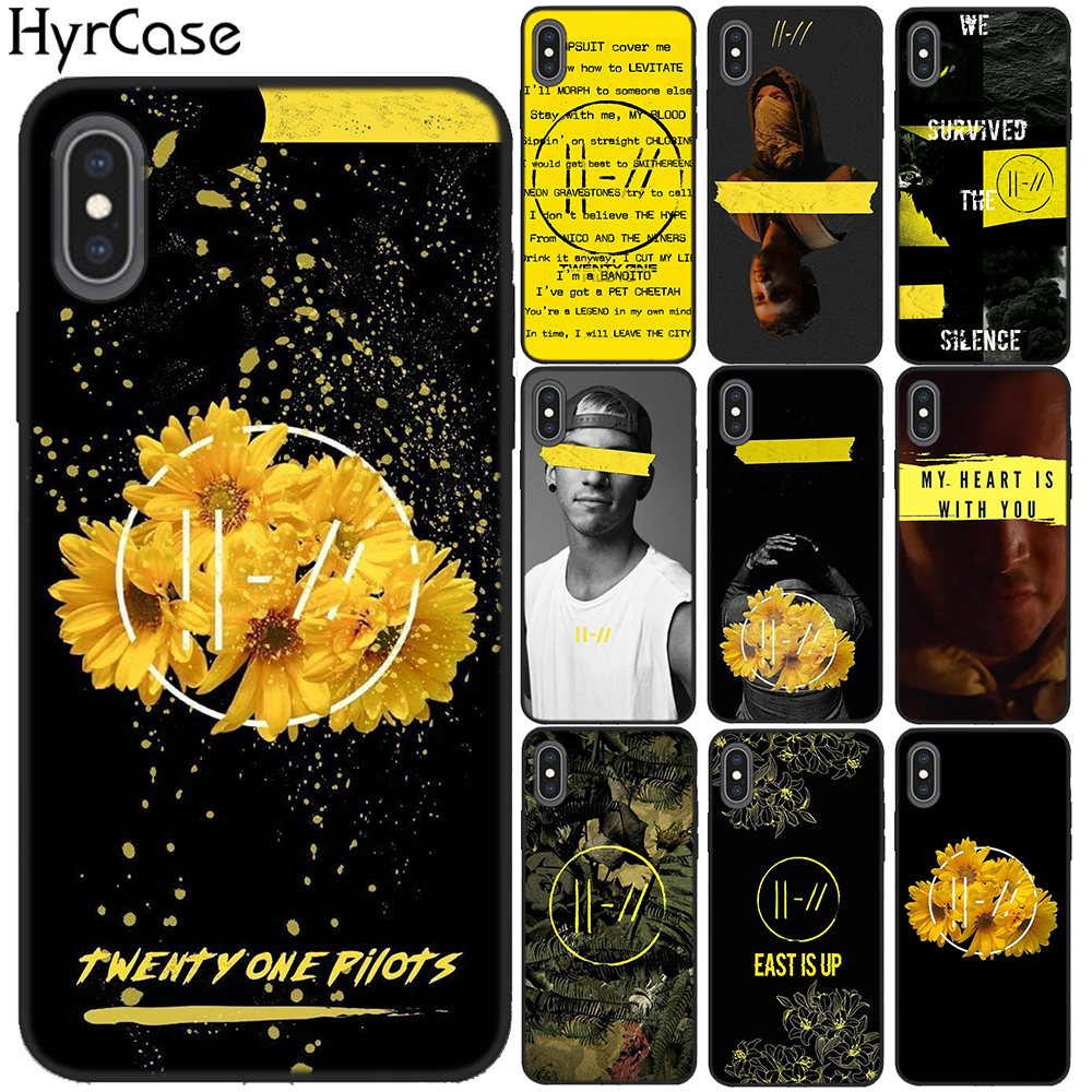 HyrCase Twenty One Pilots 21 Pilots Soft TPU Black Silicon Case Cover For IPhone 11 Pro Max 8 7 6 6S Plus X 5 5S SE XS XR XS MAX