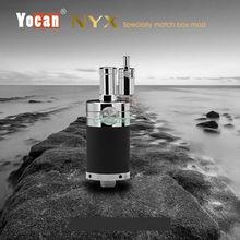 เดิมบุหรี่อิเล็กทรอนิกส์Yocan NYXฉีดน้ำฉีดน้ำขี้ผึ้งairfolwปุ่มควบคุม510 vaportankเรือฟรี