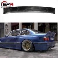 For BMW E36 RB Body Kit Tuning Carbon Fiber Rocket Bunny Rear Spoiler Full Wide Body Kit Part For E36 Carbon Rear Wing