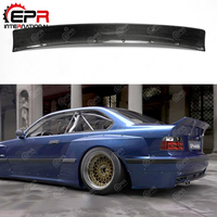 For BMW E36 RB Style Carbon Fiber Rear Spoiler Glossy Finish Trunk Splitter Lip Fibre Bootlid Wing Tuning Kit Drift Trim