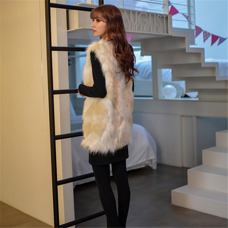 70ac38fa20e Winter Warm Smart Casual Faux Fur Vest Jacket Coat Long Waistcoat Outerwear  Women Ladies for women FF007-in Faux Fur from Women's Clothing on  Aliexpress.com ...