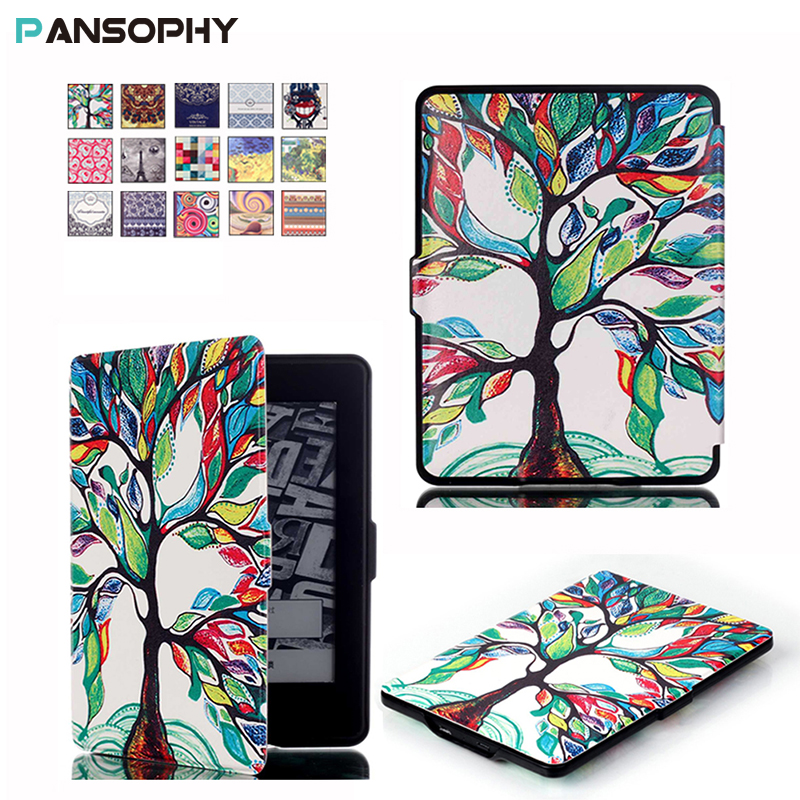 For Kindle Paperwhite 1 2 3 Case Stand Leather Cover for All Kindle Paperwhite 2013 2015 2016 Ereader Case with Auto Wake/Sleep pu leather ebook case for kindle paperwhite paper white 1 2 3 2015 ultra slim hard shell flip cover crazy horse lines wake sleep