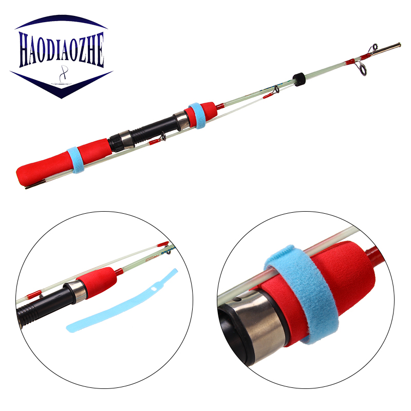 HAODIAOZHE 10Pcs Fishing Rod Tie Reusable Nylon Holder Strap Suspenders Rod Belt Hook Loop Fishing Accessories Fish Tackle YU108