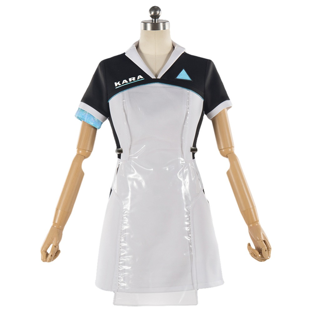 Detroit: Become Human KARA Cosplay Costume Code AX400 Agent Outfit Adult Girls Cute Dress Halloween Carnival Cosplay Costumes