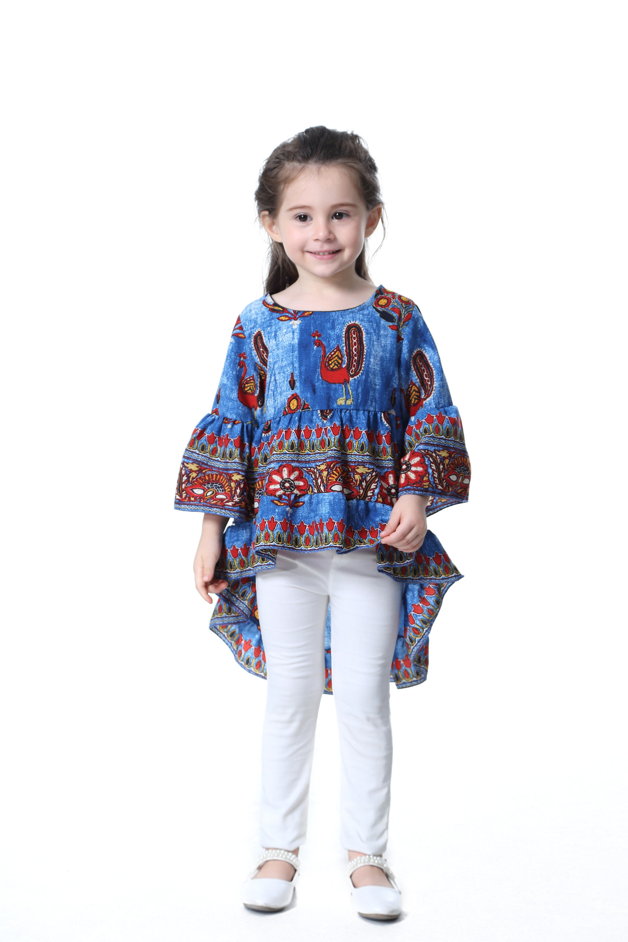 2017 Autumn Spring Children Kids Fashion Trends Vintage Clothing Full Sleeve Dresses Girls Cute Long Toddler Dress In From Mother On