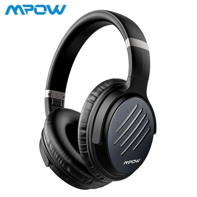 Mpow H16 a amélioré le casque antibruit actif charge rapide 30H temps de jeu casque sans fil/filaire pour les téléphones portables PC TV