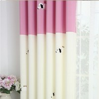 Baby Kids Room Curtains Korean Stlye Cartoon Curtain For Children Room Two Colors Semi Blackout With