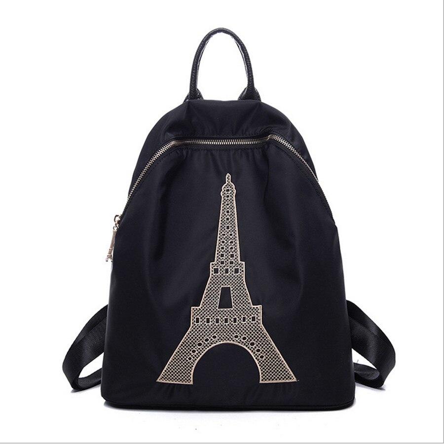 2015 Eiffel 3D Printing Travel Paris Backpack Women Fashion Backpack Printing Backpacks European Flap Backpack Travel