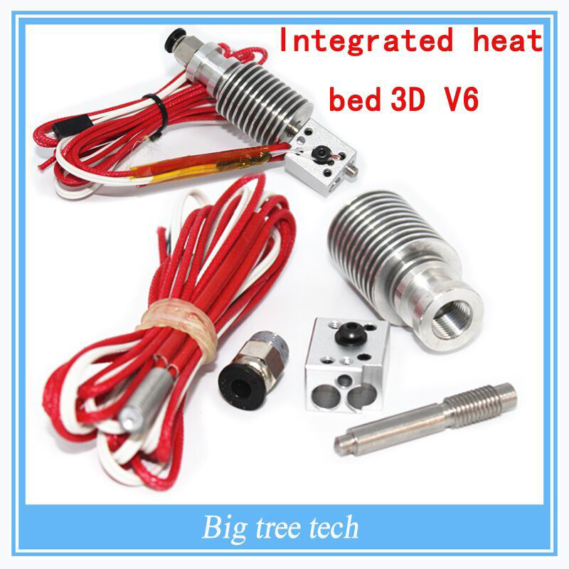 ФОТО 3d printer integrated heat bed 3D V6 extrusion head kit/remote feed nozzle/12V40W heater  remote extrusion kit