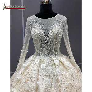 Image 2 - מדהים אמיתי עבודת חתונה שמלה 2021 robe דה soiree