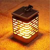 2PCS Solar powered LED Garden Path Light Waterproof LEDs Lawn Flame Lamps Fire night Lights Outdoor LED Yard Decoration lighting