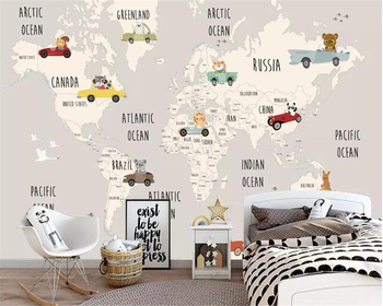 beibehang Custom children room background wall 3d wallpaper cartoon world map animal background murals wallpaper for walls 3 d beibehang custom children room wall 3d wallpaper fairytale world mushroom house children s room tv background wall 3d wallpaper