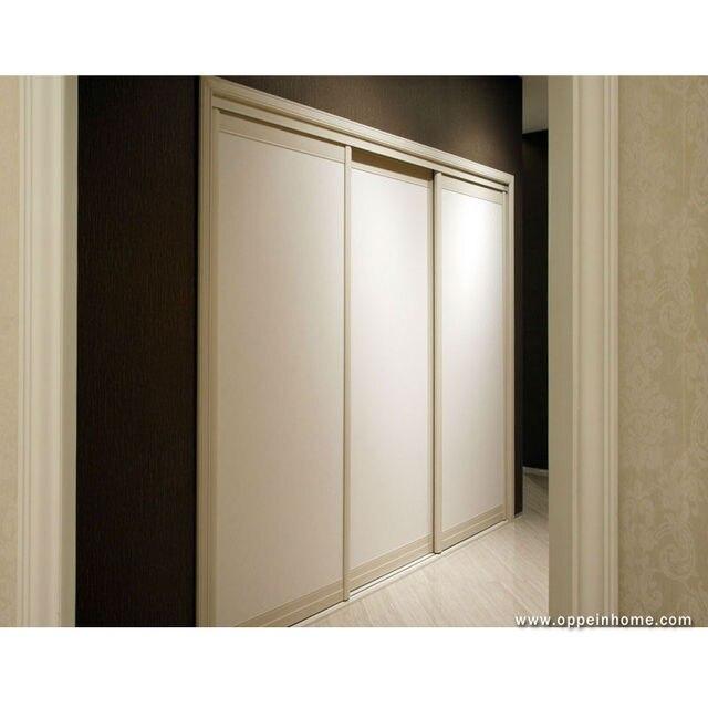 Oppein White Wardrobe With 3 Sliding Doors For Bedroom Furniture Yg11012