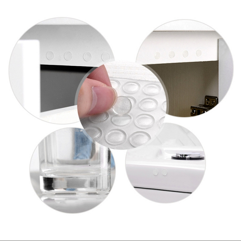 Feet Bumper Pads Adhesive Transparent Buffer Pads Cabinet Door Bumpers Stick Anti-noise Pads Home Silencer Py