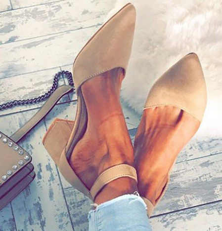 f6c1cf9d91 Women Pointed Toe Flock High Heels Sandals Shoes Ladies Girls Sexy Party  Bandage Ankle Strap Autumn