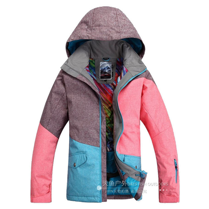 Three colors Woman Snow Clothes High Quality 10K waterproof windproof breathable outdoor Snowboarding jacket ski suit jackets running river brand winter thermal women ski down jacket 5 colors 5 sizes high quality warm woman outdoor sports jackets a6012
