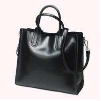 New Design Genuine Leather Women Handbags High Quality First Layer Leather Big Bags For Women Fashion
