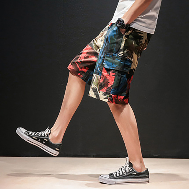 Casual Camouflage Cargo Men Shorts Cotton 4xl Running Streetwear Hip Hop Homme Summer Short Pants Men Fitness Clothing 50nz41