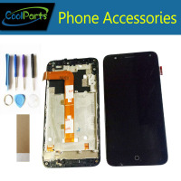 1PC/Lot For Alcatel Pop 4 lcd 5051 5051D 5051X 5051J 5051M OT5051 LCD Display Screen+Touch Screen Digitizer With Frame+Tape&Tool