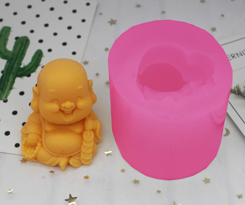 wholesale!!!1pcs Recruit Money Buddha (C1277) Silicone Handmade Soap Mold Crafts DIY Silicone Mould