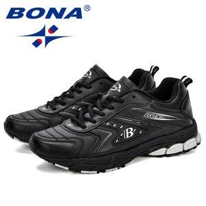 Image 5 - BONA/мужская повседневная обувь; Брендовая мужская обувь; Мужские кроссовки на плоской подошве; Удобная дышащая обувь из микрофибры для отдыха; Трендовый стиль ПРОМО КОД: 250VIP