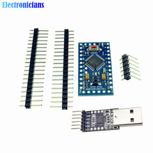 1Set atmega328 Atmega328P Pro Mini 5V 16M Board Module For Arduino + 6PIN CP2102 USB 2.0 to UART TTL Adapter Converter(China)