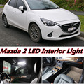 4pcs X free shipping Error Free LED Interior Light Kit Package for Mazda 2 demio accessories 2015-2016