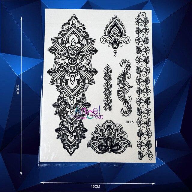 Big Size Indian Henna Temporary Tattoo Body Art Mehndi Tattoo
