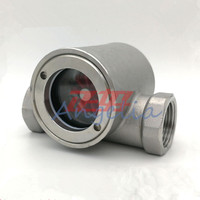 2 NPT Stainless Steel 316 Sight Water Flow Indicator With PTFE Impeller