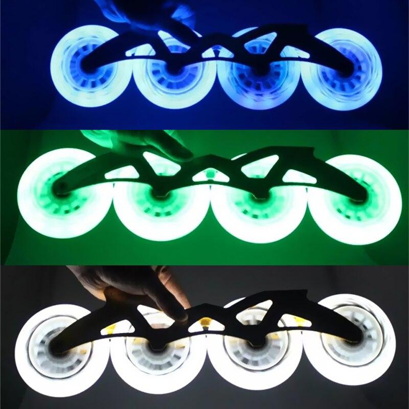 JEERKOOL LED Flash Skates Roller Original 85A Inline Speed Skates Wheel 90 100 110mm Flash Wheel
