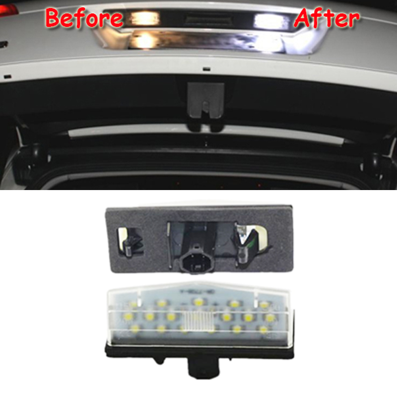 2x Free Error Led License Plate Light For Toyota Prius Zvw30 2009 Car Styling Replacement