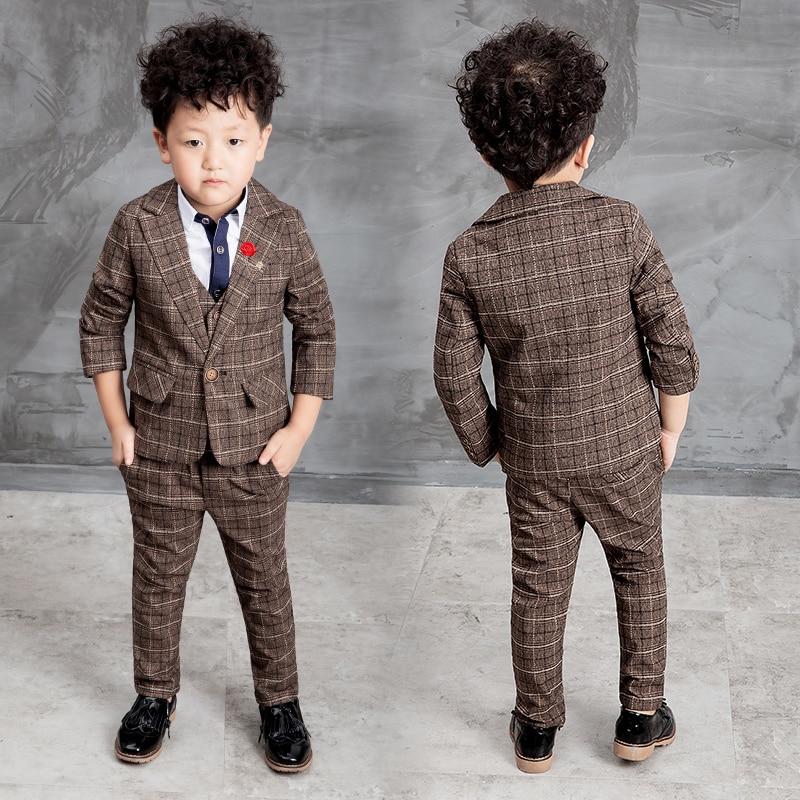 0c8ff6ff75 2016 New Children Suit Baby Boys Suits Kids Blazer Boys Formal Suit For  Weddings Boys Clothes Set Jackets+Vest+Pants 3pcs 2-10Y