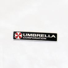 3D Stainless Metal Aluminum Resident Evil Umbrella Flag Car Sticker Styling