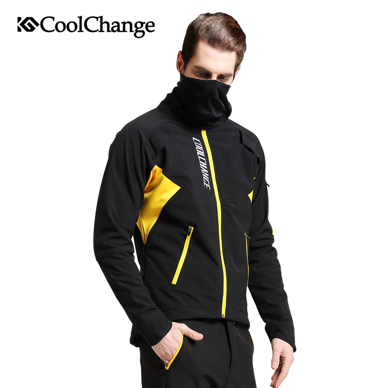 CoolChange Cycling Jersey Winter Thermal Fleece MTB Bicycle Windproof Jacket Outdoor Cycling Sportswear Long Sleeve Coat Jersey|winter thermal|thermal fleece|thermal winter - title=