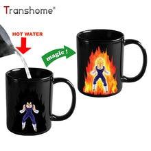 Transhome kreatív színváltó bögre 300ml Dragon Ball Z Vegeta hőérzékeny kerámiatisztító tea tejeskávé bögrékhez Kupa
