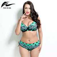 Bathing Suit Push Up Bikinis Women Super Large Cup Bikini Set Women Swimwear Sexy Plus Size