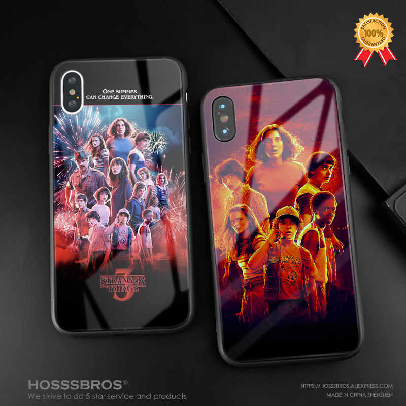 Stranger Things season 3 phone case shell glass soft silicone cover for iPhone SE 6 6s 7 8 Plus X XR XS 11 12 mini Pro MAX