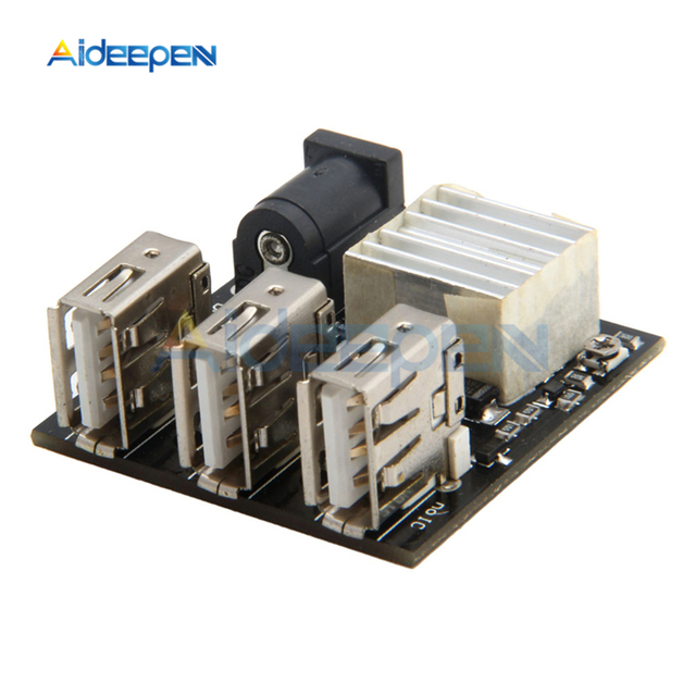 3 USB Mini moduł ładowania obniżanie mocy power bank Board DC DC 9 V/12 V do 5V 8A przetwornica obniżająca napięcie dla Arduino