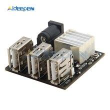 3 usb mini módulo de carregamento step down power charger bank board DC DC 9 v/12 v a 5 v 8a conversor de buck step down para arduino