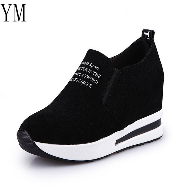 Women's Breathable High Heel Casual Sneaker