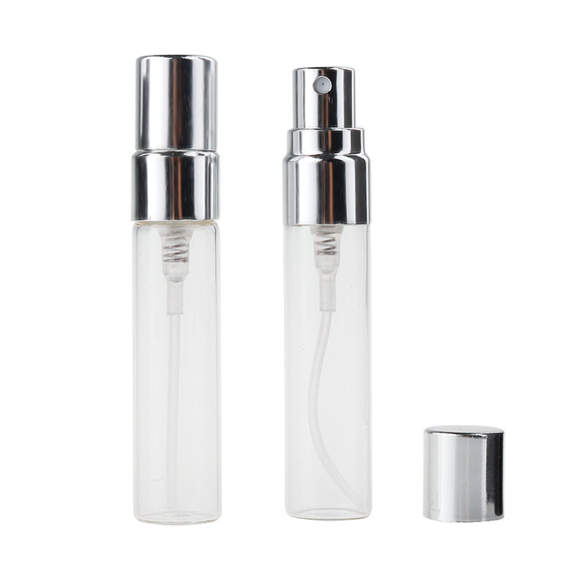 100Pieces/Lot 5ml Refillable Perfume Bottle Empty Mini Spray Bottle Aluminium Perfume Bottles Atomizer For Travel Container Pump