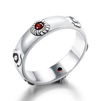 925 Silver Howl's Moving Castle Ring Hayao Miyazaki Anime Howl Sophie Cosplay Ring Silver Jewelry for Girlfriend Boyfriend