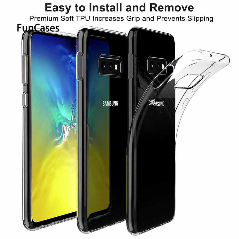 Clear Soft TPU Case For Galaxy S10E S9 S8 plus S7 S6 edge For Samsung M20 A7 A6 A8 J4 J6 plus A9 2018 Silicone Ultra Thin Cover