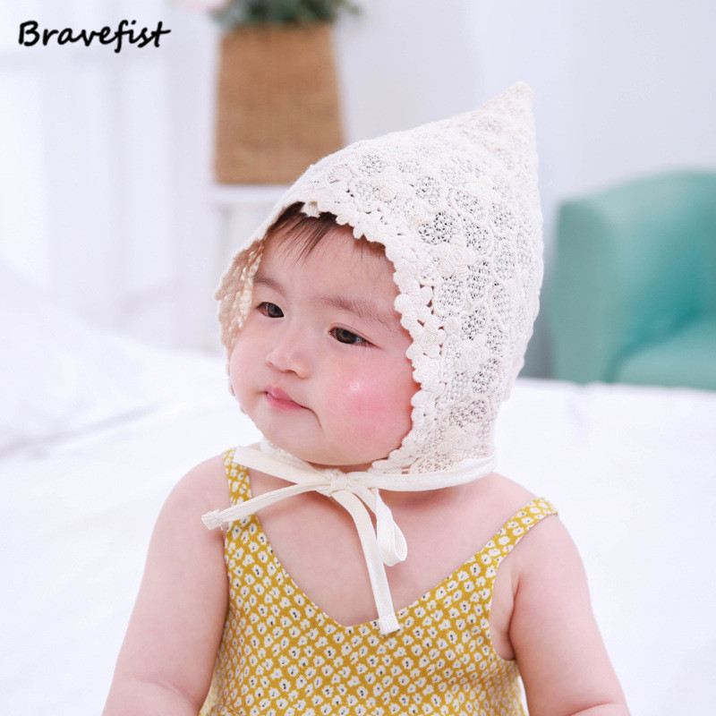 ab178d52a881e Wholesale Newest Newborn Baby Girls Princess Hat Cap Cotton Palace Hat Cute  Sun Hats Korean Flower Lace Side Spring Summer Caps-in Hats   Caps from  Mother ...