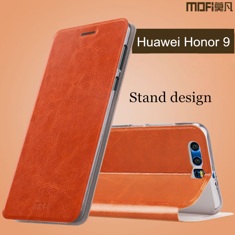 Huawei-Honor-9-case-cover-leather-MOFi-original-silicon-back-cover-Honor-9-flip-case-hard