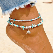 Vienkim Summer Vintage Elephant Anklets Fashion Bohemia Anklet Beach Feet Jewelry(China)